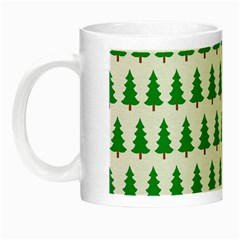 Christmas Background Christmas Tree Night Luminous Mugs by Onesevenart