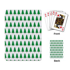 Christmas Background Christmas Tree Playing Card by Onesevenart