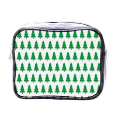 Christmas Background Christmas Tree Mini Toiletries Bags by Onesevenart