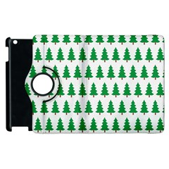 Christmas Background Christmas Tree Apple Ipad 3/4 Flip 360 Case by Onesevenart