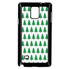 Christmas Background Christmas Tree Samsung Galaxy Note 4 Case (black) by Onesevenart