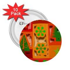 Christmas Design Seamless Pattern 2 25  Buttons (10 Pack)  by Onesevenart