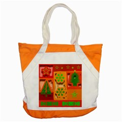 Christmas Design Seamless Pattern Accent Tote Bag by Onesevenart