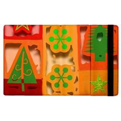 Christmas Design Seamless Pattern Apple Ipad 2 Flip Case by Onesevenart