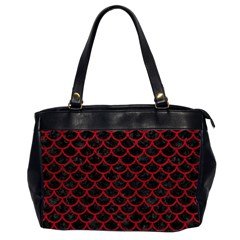 Scales1 Black Marble & Red Leather (r) Office Handbags (2 Sides)  by trendistuff