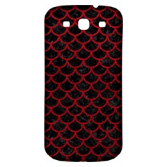 Scales1 Black Marble & Red Leather (r) Samsung Galaxy S3 S Iii Classic Hardshell Back Case by trendistuff