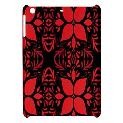 Christmas Red And Black Background Apple Ipad Mini Hardshell Case by Onesevenart