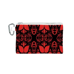 Christmas Red And Black Background Canvas Cosmetic Bag (s) by Onesevenart