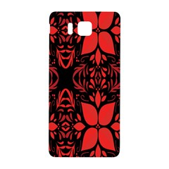 Christmas Red And Black Background Samsung Galaxy Alpha Hardshell Back Case by Onesevenart