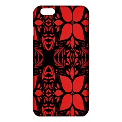 Christmas Red And Black Background Iphone 6 Plus/6s Plus Tpu Case by Onesevenart