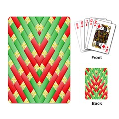 Christmas Geometric 3d Design Playing Card by Onesevenart