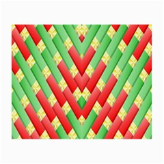 Christmas Geometric 3d Design Small Glasses Cloth (2 Side) by Onesevenart