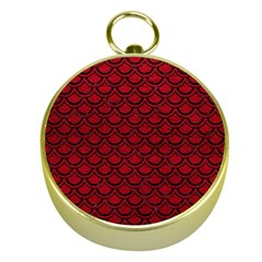 Scales2 Black Marble & Red Leather Gold Compasses by trendistuff