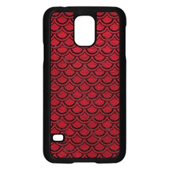 Scales2 Black Marble & Red Leather Samsung Galaxy S5 Case (black)