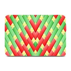Christmas Geometric 3d Design Plate Mats by Onesevenart