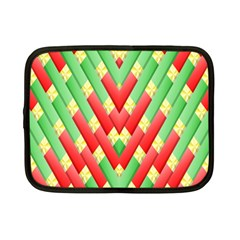 Christmas Geometric 3d Design Netbook Case (small)  by Onesevenart