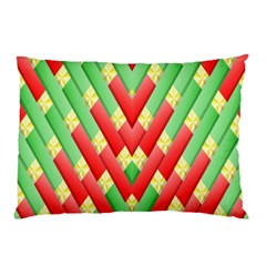 Christmas Geometric 3d Design Pillow Case by Onesevenart