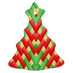 Christmas Geometric 3d Design Christmas Tree Ornament (two Sides) by Onesevenart