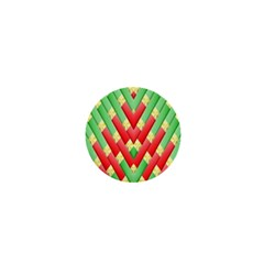 Christmas Geometric 3d Design 1  Mini Buttons by Onesevenart