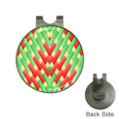 Christmas Geometric 3d Design Hat Clips With Golf Markers by Onesevenart