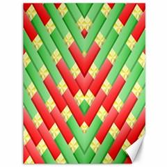 Christmas Geometric 3d Design Canvas 36  X 48   by Onesevenart