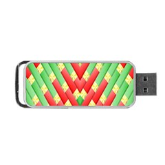 Christmas Geometric 3d Design Portable Usb Flash (two Sides) by Onesevenart