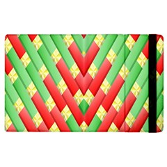 Christmas Geometric 3d Design Apple Ipad 3/4 Flip Case by Onesevenart