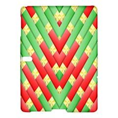 Christmas Geometric 3d Design Samsung Galaxy Tab S (10 5 ) Hardshell Case  by Onesevenart