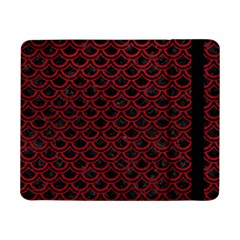 Scales2 Black Marble & Red Leather (r) Samsung Galaxy Tab Pro 8 4  Flip Case by trendistuff