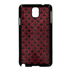Scales2 Black Marble & Red Leather (r) Samsung Galaxy Note 3 Neo Hardshell Case (black) by trendistuff