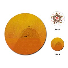 Sunset Playing Cards (round)  by berwies