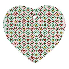 Christmas Decorations Background Ornament (heart) by Onesevenart