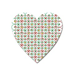 Christmas Decorations Background Heart Magnet by Onesevenart
