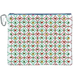 Christmas Decorations Background Canvas Cosmetic Bag (xxxl) by Onesevenart