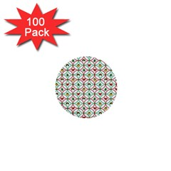 Christmas Decorations Background 1  Mini Buttons (100 Pack)  by Onesevenart