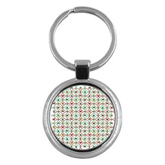 Christmas Decorations Background Key Chains (round)  by Onesevenart