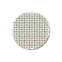 Christmas Decorations Background Magnet 3  (round) by Onesevenart