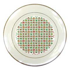 Christmas Decorations Background Porcelain Plates by Onesevenart
