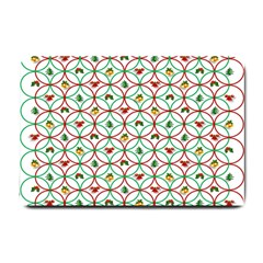 Christmas Decorations Background Small Doormat  by Onesevenart