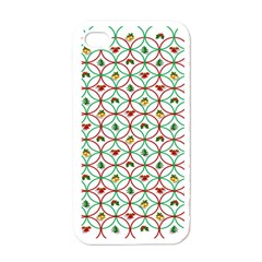 Christmas Decorations Background Apple Iphone 4 Case (white) by Onesevenart