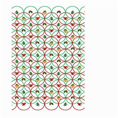 Christmas Decorations Background Large Garden Flag (two Sides) by Onesevenart