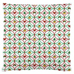 Christmas Decorations Background Large Cushion Case (one Side) by Onesevenart