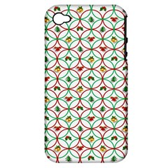 Christmas Decorations Background Apple Iphone 4/4s Hardshell Case (pc+silicone) by Onesevenart
