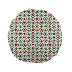 Christmas Decorations Background Standard 15  Premium Round Cushions by Onesevenart
