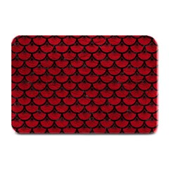 Scales3 Black Marble & Red Leather Plate Mats by trendistuff