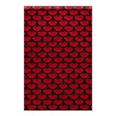 Scales3 Black Marble & Red Leather Shower Curtain 48  X 72  (small)  by trendistuff