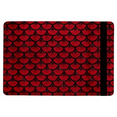 Scales3 Black Marble & Red Leather Ipad Air Flip by trendistuff