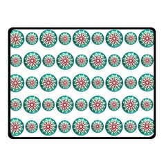 Christmas 3d Decoration Colorful Double Sided Fleece Blanket (small)  by Onesevenart