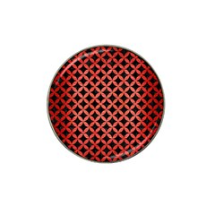 Circles3 Black Marble & Red Brushed Metal (r) Hat Clip Ball Marker (4 Pack) by trendistuff