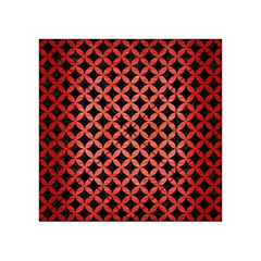 Circles3 Black Marble & Red Brushed Metal (r) Acrylic Tangram Puzzle (4  X 4 ) by trendistuff